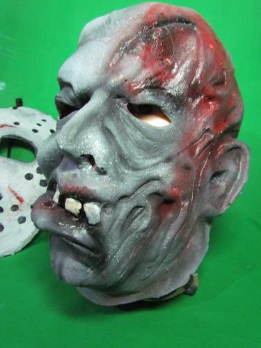 mascaras en latex - jason doble mascara