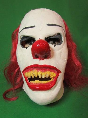 mascaras en látex - payaso satanico