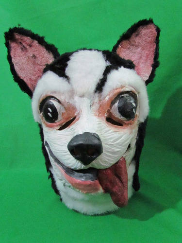 mascaras en latex - perro