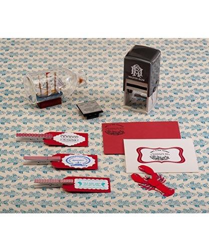 mason row mx-14637 set personalizado de sello de certific