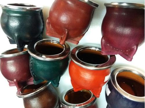 mate ceramico de cuero nacional colores - herracor