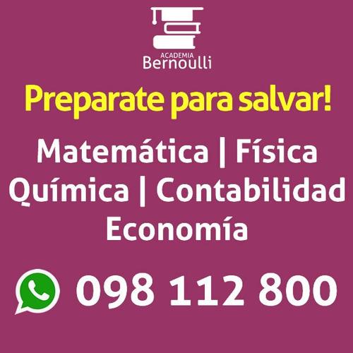matematica fisica quimica contabilidad clases particulares