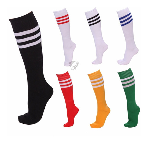medias de fútbol para adulto en varios colores.
