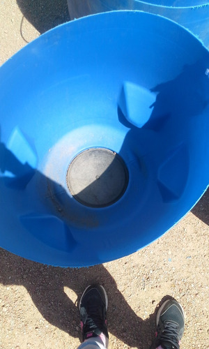 medios tanques plásticos, para hielo, residuos, agua, mazeta