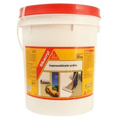 membrana liquida impermeabilizante sikacryl 20 kg + rodillo
