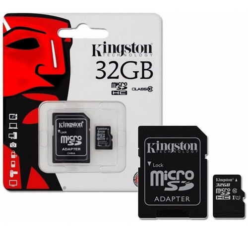 memoria kingston micro sd con adaptador 32gb clase 10