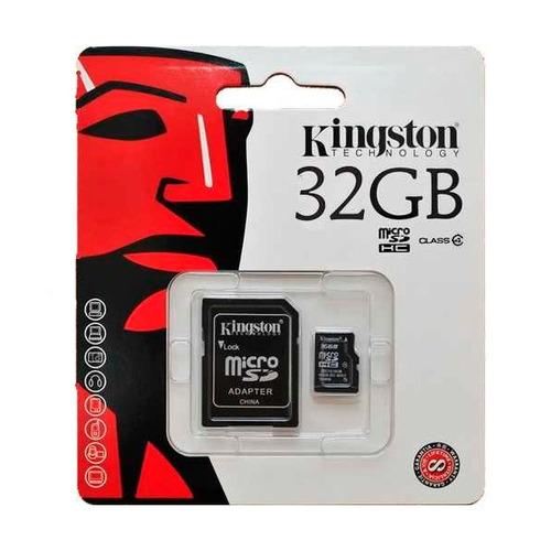 memoria micro sd c/adaptador clase 4 32gb kingston