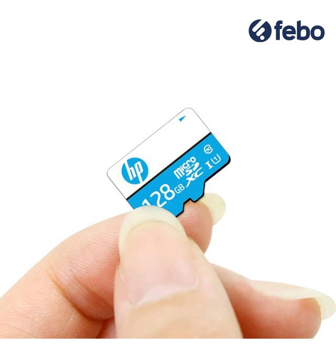 memoria micro sd hp 128gb 100mb/s celular cámara tablet febo