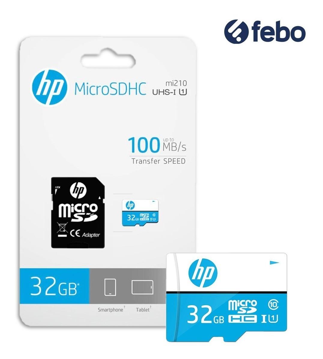 61511b317f7 memoria micro sd hp 32gb 100mb/s celular cámara tablet febo. Cargando zoom.
