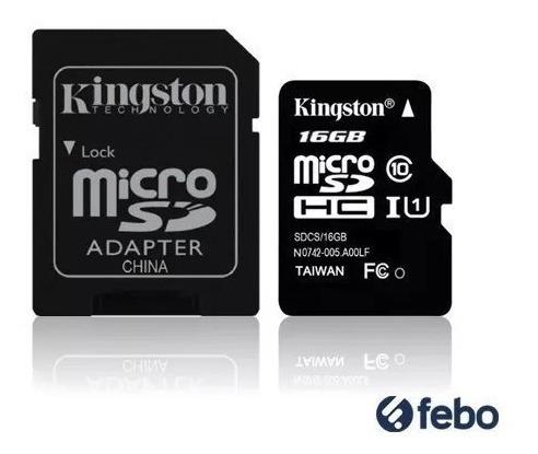 memoria micro sd kingston 16gb 80mb/s celular camara tablet