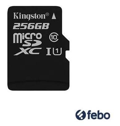 memoria micro sd kingston 256gb c10 80mb/s celular camara