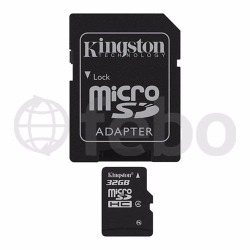 memoria microsd 32gb kingston celular camara tablet febo