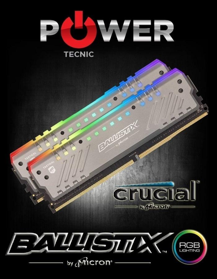 Resultado de imagen para CRUCIAL BALLISTIX DDR4 KIT 3000Mhz RGB