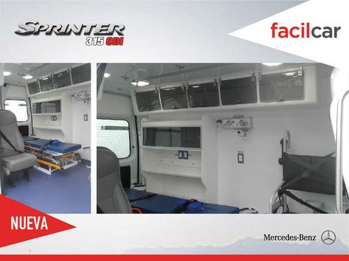 mercedes benz 315 cdi 2020 ambulancia equipada 0km