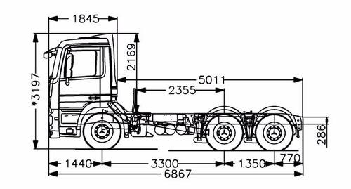 mercedes benz - actros 2644/33 ls tractor dob. (dormitorio)