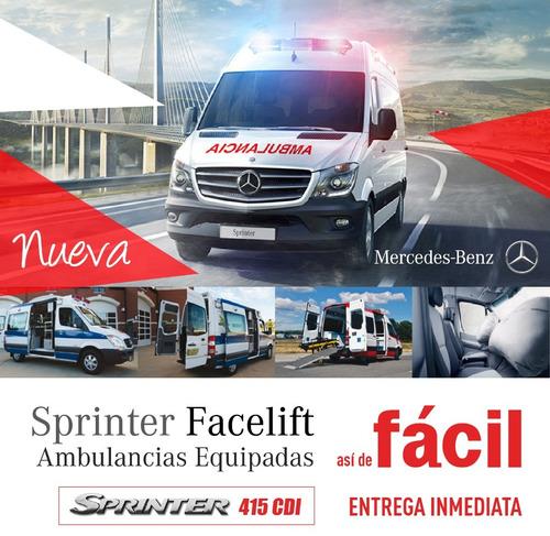 mercedes benz sprinter 415 ambulancia 2018 equipada