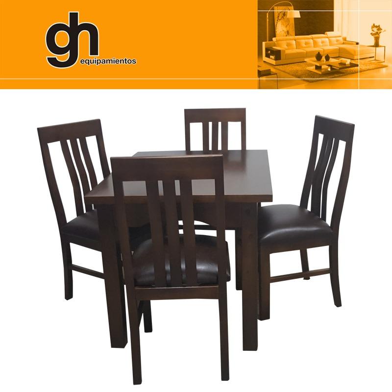 Mesa, 4 Sillas Tapizadas,excelente Juego Cocina O Comedor Gh - U$S ...