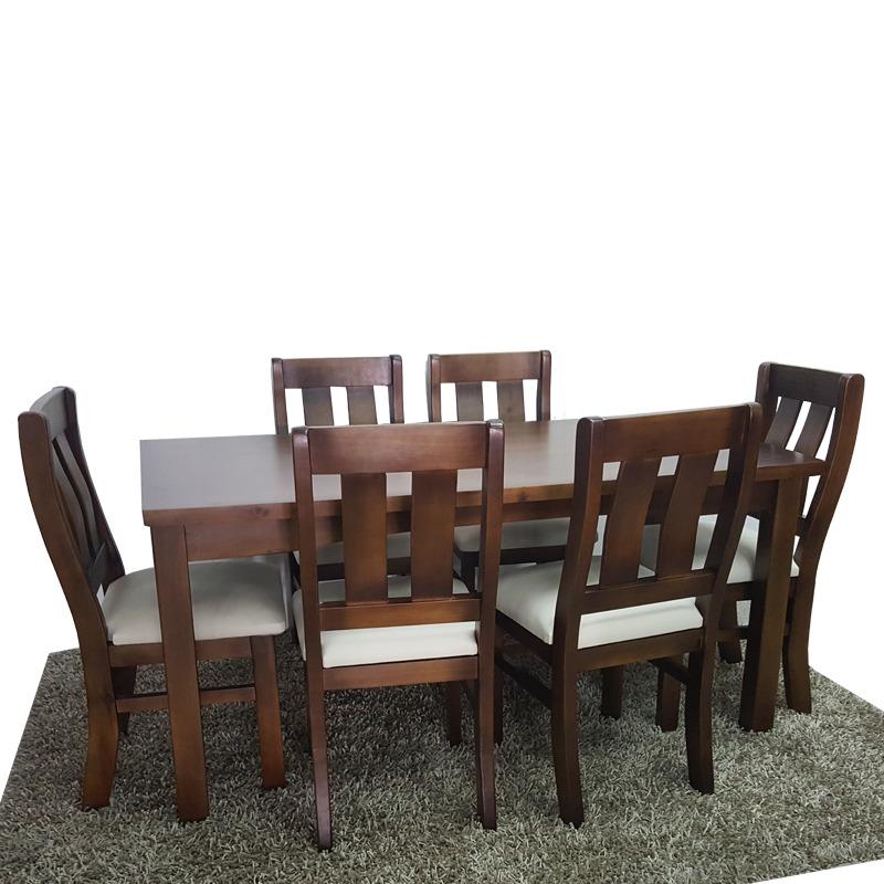 Mesa + 6 Sillas Para Cocina O Comedor , Muebles En Madera Gh