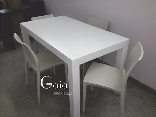 mesa  asia laqueada comedor moderna madera 160 x 80 cm
