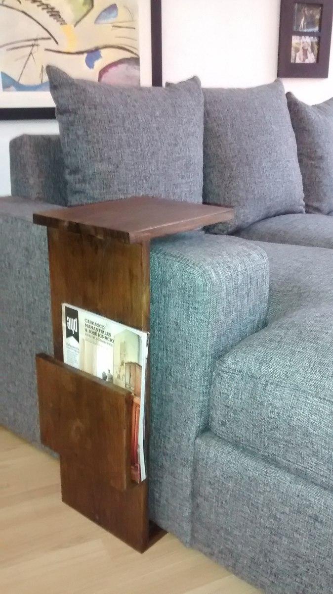 Mesa Auxiliar Lateral Para Sofa Madera Maciza