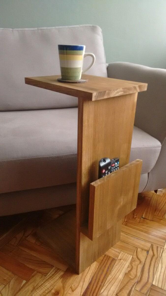 Mesa auxiliar para sof en madera en - Mesas para el sofa ...