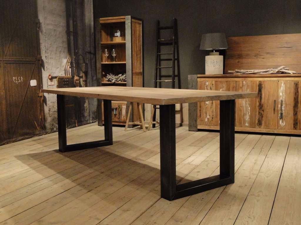 Mesa Cocina Comedor Industrial De Madera Y Hierro 1.5x1 - $ 9.499,00 ...