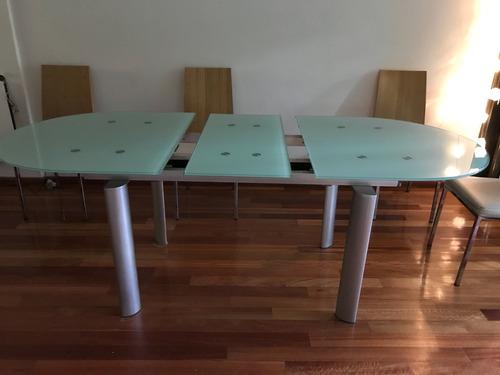 Mesa Comedor De Vidrio. Extensible De 1,60 Cm A 2,00 Cm - $ 12.000 ...