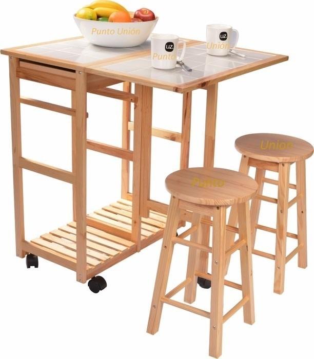 Mesa Comedor Desayunador Dos Bancos Dos Cajones Para Cocina