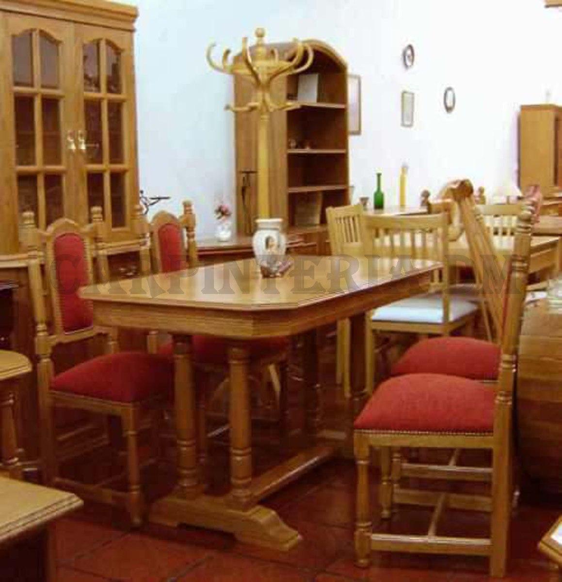 Mesa Comedor En Roble /carpinteria Dm - $ 9.595,30 en Mercado Libre