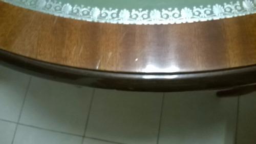 mesa comedor estilo ingles con 6 sillas