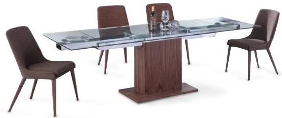 Mesa Comedor Extensible Vidrio Y Madera Dyd - $ 39.500,00 en Mercado ...