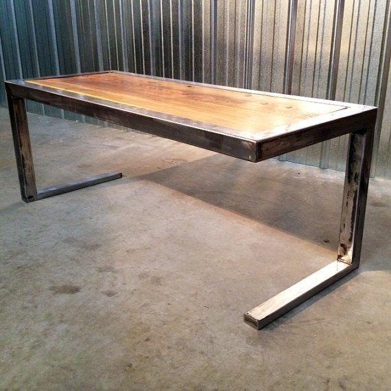 Mesa Comedor Hierro Y Madera Diseño Industrial Original - $ 7.990,00 ...