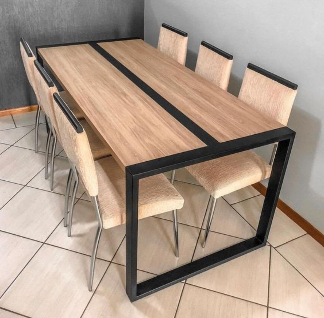 Mesa Comedor Hierro Y Madera. Jd (arte Y Diseño)