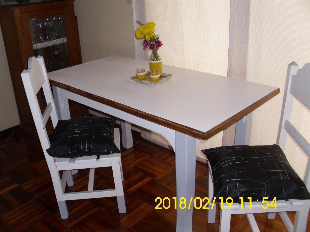 Mesa Comedor Y Sillas Restauradas - $ 4.490,00 en Mercado Libre