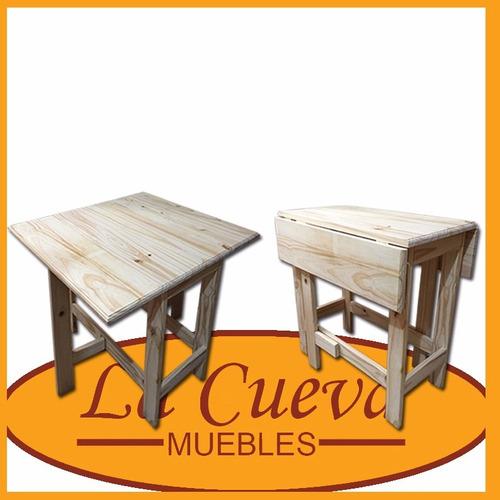 mesa con alas - plegable - cocina - madera - lcm