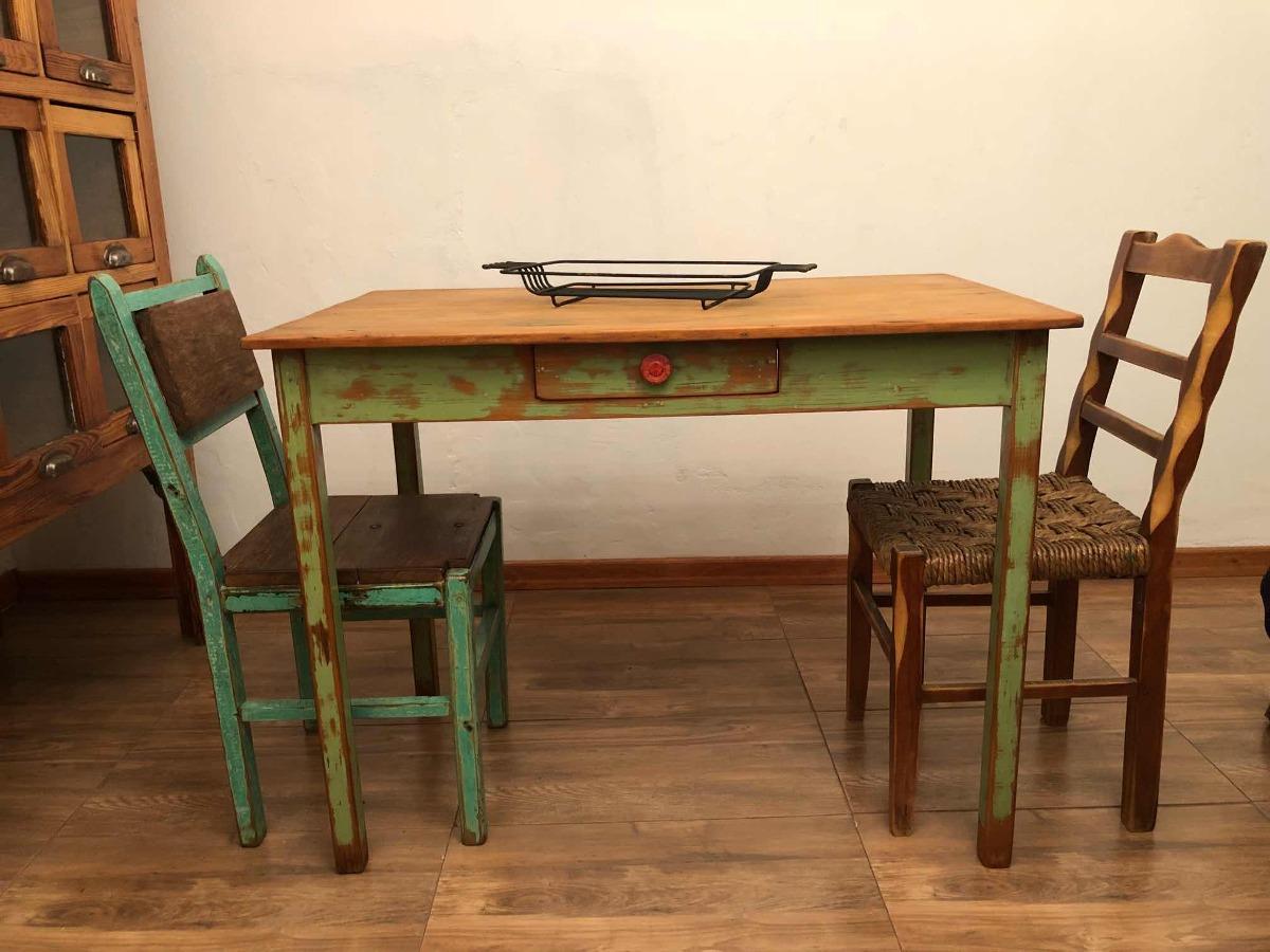Mesa De Cocina Antigua Madera Restaurada - $ 7.500,00 en Mercado Libre