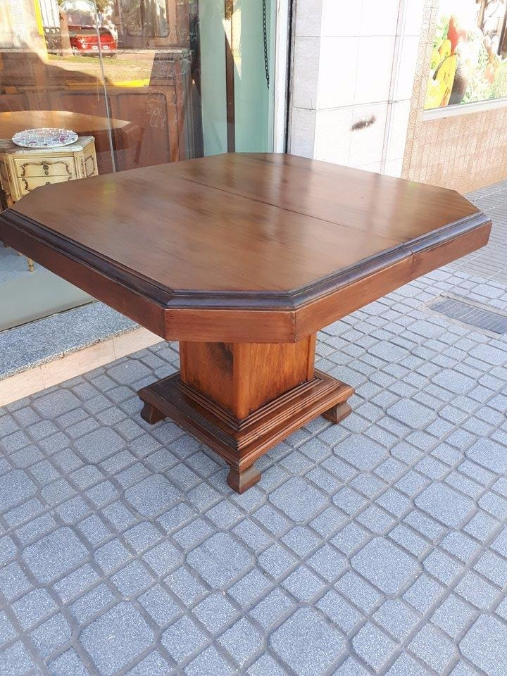 Mesa De Comedor Antigua Extensible Art Deco Roble Macizo. - $ 9.500 ...
