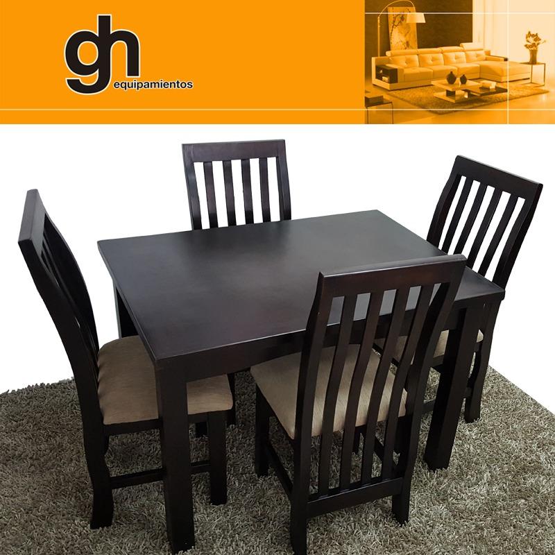 Mesa De Comedor Con 4 Sillas,varios Modelos Y Colores Gh - $ 14.990 ...