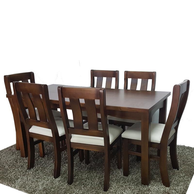 e733e971a mesa de comedor con 6 sillas en madera y tapizadas gh. Cargando zoom.