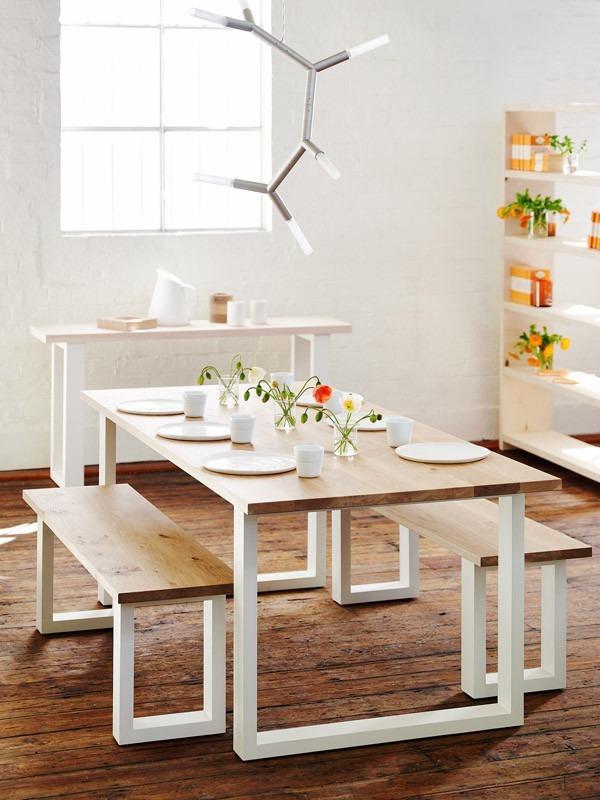 Mesa De Comedor Con Bancos Incluidos Fabricados Para Durar + ...