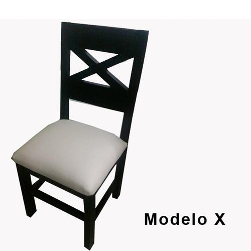 mesa de comedor con caminero de vidrio + 4 sillas