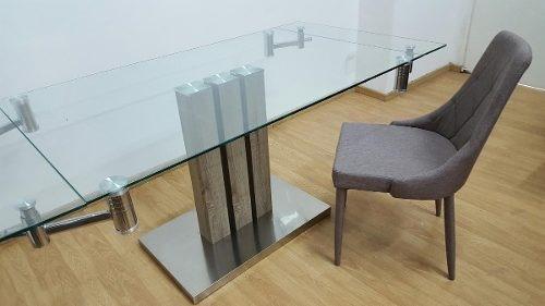 Mesa De Comedor De Vidrio Extensible (1,40x0,90 A 1,80) - $ 15.300 ...
