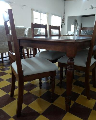mesa de comedor en cedro madera maciza.