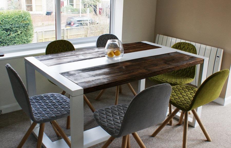 Mesa de comedor estilo industrial hierro madera pallets for Mesa de comedor de estilo industrial