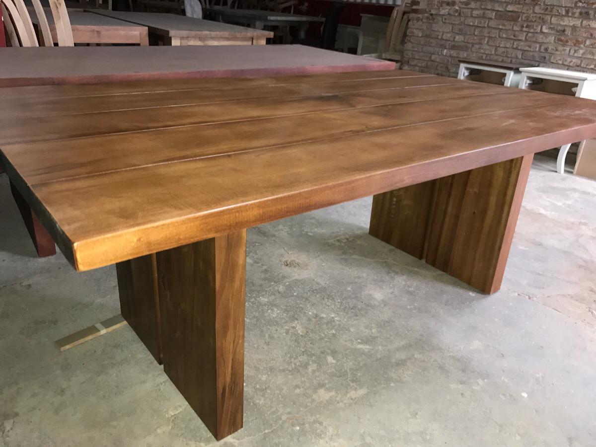 mesa de comedor madera maciza alamo en