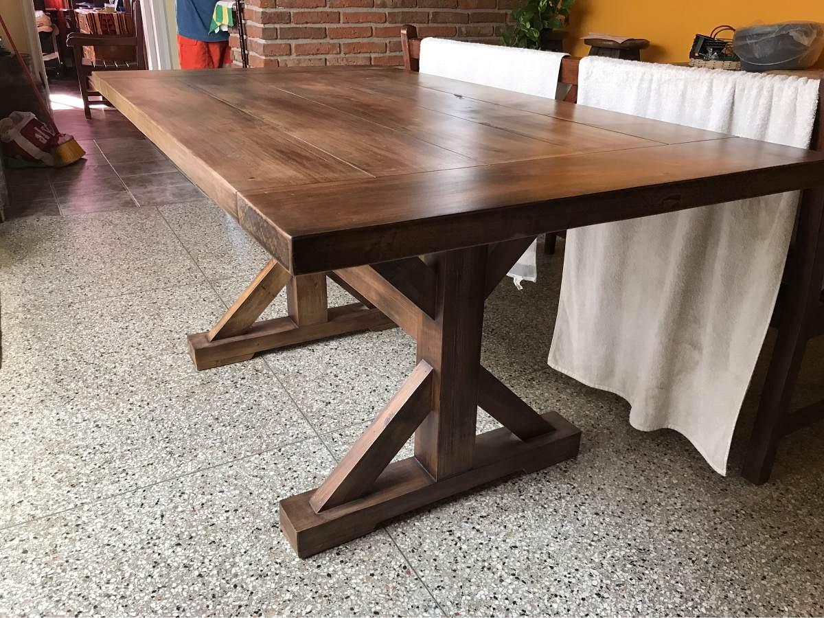 Mesa de comedor madera maciza rustica en mercado libre - Mesa rustica madera ...