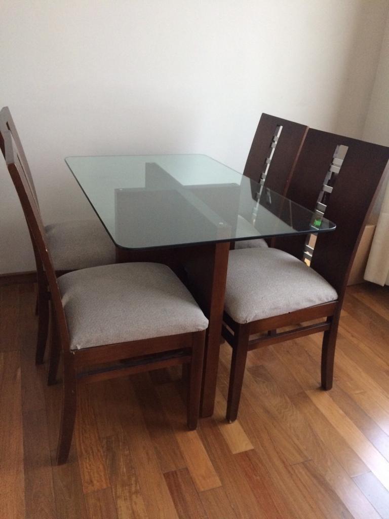 Mesa De Comedor, Madera Y Vidrio. Medidas 110*070 - $ 8.900,00 en ...