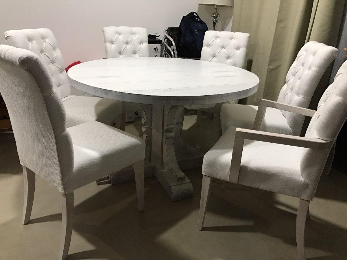 Mesa De Comedor Redonda Madera Maciza Rustica - $ 19.400,00 en ...