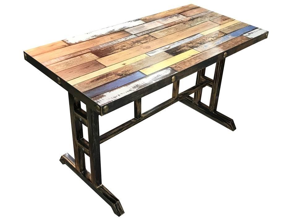 Mesa De Comedor Vintage Super Fuerte Con Diseño En Tapa - $ 11.960 ...