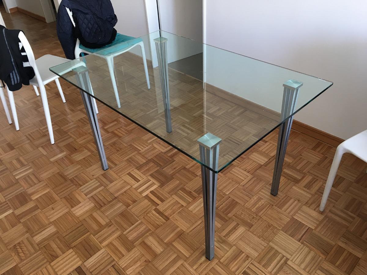 Mesa De Living Comedor Vidrio Templado Y Aluminio - $ 5.500,00 en ...